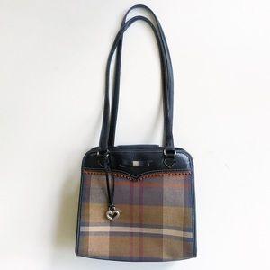 Brighton Plaid Fabric & Leather Shoulder Bag